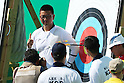 Kim Woojin (KOR),<br /> AUGUST 5, 2016 - Archery : <br /> Men's Individual Ranking Round <br /> at Sambodromo<br /> during the Rio 2016 Olympic Games in Rio de Janeiro, Brazil. <br /> (Photo by Koji Aoki/AFLO SPORT)