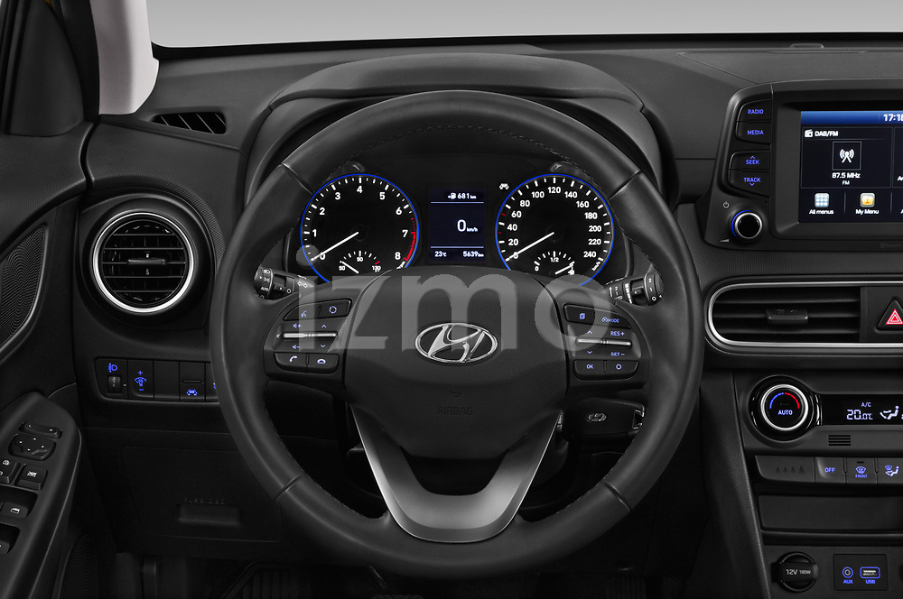 Car pictures of steering wheel view of a 2018 Hyundai Kona Twist 5 Door SUV