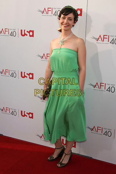 JULES BRUFF.35th Annual AFI Life Achievement Award Honoring Al Pacino at the Kodak Theatre, Hollywood, California, USA.7 June 2007..full length green strapless dress.CAP/ADM/BP.©Byron Purvis/AdMedia/Capital Pictures.