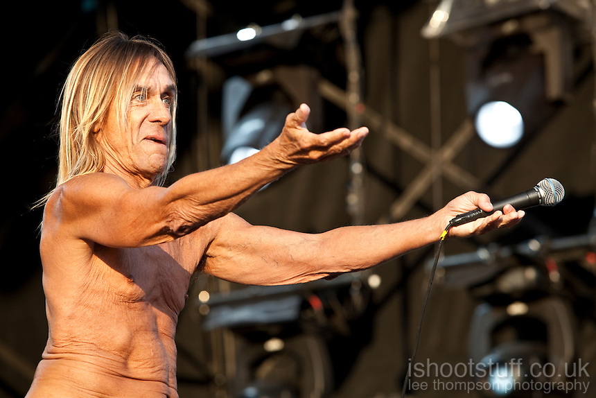 Iggy Pop performing live at The Hop Farm Festival 2011