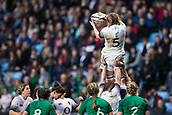16th March 2018, Ricoh Arena, Coventry, England; Womens Six Nations Rugby, England Women versus Ireland Women; Poppy Cleall of England wins a line out