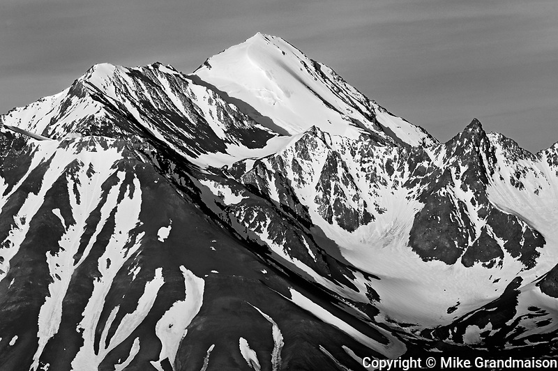 St. Elias Mountains looking at Kluane National Park at sunrise<br /> from Haines Junction<br />