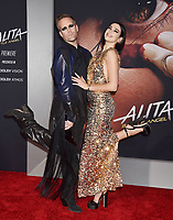 WESTWOOD, CA - FEBRUARY 05: Justin Tranter (L) and Dua Lipa attend the Premiere Of 20th Century Fox's 'Alita: Battle Angel' at Westwood Regency Theater on February 05, 2019 in Los Angeles, California.<br /> CAP/ROT/TM<br /> ©TM/ROT/Capital Pictures