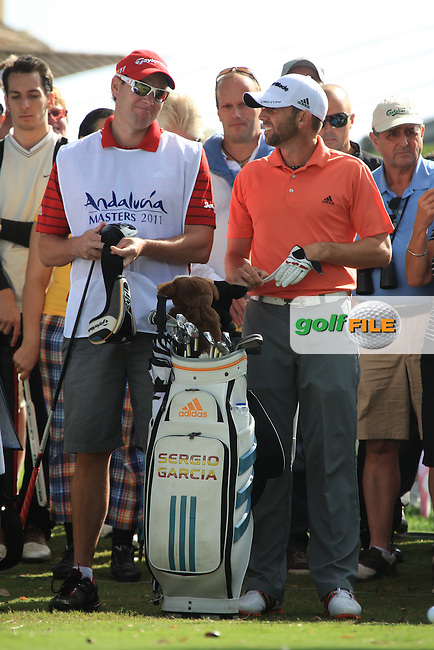 Sergio Garcia (ESP) during the 1st day at the  Andalucía Masters at Club de Golf Valderrama, Sotogrande, Spain. .Picture Fran Caffrey www.golffile.ie
