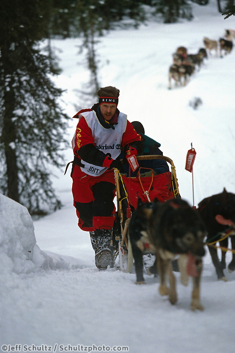 Jeff King on Uphill Run 1993 Iditarod SC Alaska