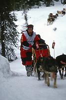 Jeff King on Uphill Run 1993 Iditarod SC Alaska