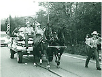The Rep-Am printing press float in Cheshire for the 1981 Memorial Day Parade.