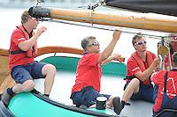 ZEILEN: LEMMER: Lemster baai, 31-07-2014, SKS skûtsjesilen, Lemster skûtsje, schipper Albert Visser, ©foto Martin de Jong