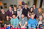 John Moriarty the Spa celebrating his 30th Birthday with family and friends at Cassidy's on Saturday Pictured Elma Kelly,  Colin O'Leary, John Moriarty, John Moriarty Snr. Phil Moriarty. Back l-r Derry Fleming, Paddy Fitzgerald, Denise O'Keeffe, Francis Ferris, Den Harman, Oonagh Harman, Cathal Gunton and Maureen Fleming