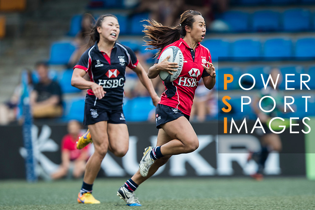 Chong Ka Yan of Lions (R) in action during the Women's National Super Series 2017 on 13 May 2017, in Hong Kong Football Club, Hong Kong, China. Photo by Cris Wong / Power Sport Images