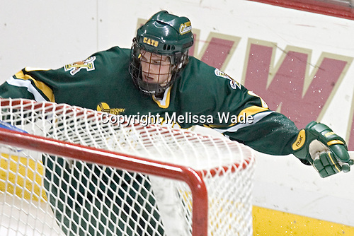 Vermont ? - The Boston College Eagles completed a shutout sweep of the University of Vermont Catamounts on Saturday, January 21, 2006 by defeating Vermont 3-0 at Conte Forum in Chestnut Hill, MA.