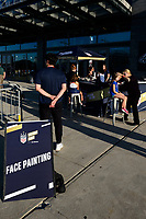 PHILADELPHIA, PA - AUGUST 29: Face painting during a game between onsorship v at Lincoln Financial Field on August 29, 2019 in Philadelphia, Pennsylvania.