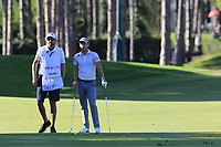 Danny Willett (ENG) prepares to play his 2nd shot on the 17th hole during Friday's Round 2 of the 2018 Turkish Airlines Open hosted by Regnum Carya Golf &amp; Spa Resort, Antalya, Turkey. 2nd November 2018.<br /> Picture: Eoin Clarke | Golffile<br /> <br /> <br /> All photos usage must carry mandatory copyright credit (&copy; Golffile | Eoin Clarke)