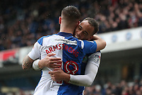 Blackburn Rovers' Elliott Bennett and Blackburn Rovers' Adam Armstrong<br /> <br /> Photographer Rachel Holborn/CameraSport<br /> <br /> The EFL Sky Bet League One - Blackburn Rovers v Blackpool - Saturday 10th March 2018 - Ewood Park - Blackburn<br /> <br /> World Copyright &copy; 2018 CameraSport. All rights reserved. 43 Linden Ave. Countesthorpe. Leicester. England. LE8 5PG - Tel: +44 (0) 116 277 4147 - admin@camerasport.com - www.camerasport.com