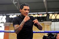 Conor Benn during a Public Workout at Old Spitalfields Market on 12th April 2019