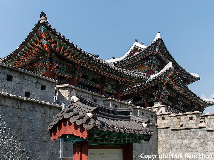 S&uuml;dtor Pungnammun in Jeonju, Provinz Jeollabuk-do, S&uuml;dkorea, Asien<br /> South gate Pungnammun in Jeonju, province Jeollabuk-do, South Korea, Asia, UNESCO world-heritage