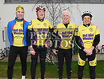 Fergal White, Shane Heeney, Richie O'Connor and John Tuite from Well Oiled Wheelers who took part in the Duleek Parish annual spotive cycle inn aid of Duleek National School. Photo:Colin Bell/pressphotos.ie