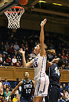 20 December 2011: Duke's Allison Vernerey (FRA) (43) and UNCW's Kameshia Garrett (40). The Duke University Blue Devils defeated the University of North Carolina Wilmington Seahawks 107-45 at Cameron Indoor Stadium in Durham, North Carolina in an NCAA Division I Women's basketball game.