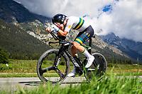 Picture by Alex Whitehead/SWpix.com - 25/09/2018 - Cycling - UCI 2018 Road World Championships - Innsbruck-Tirol, Austria - Junior Men's Individual Time Trial - Lucas Plapp of Australia.
