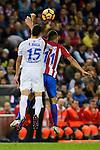 Atletico de Madrid's player Ángel Martín Correa and Malaga CF Federico Ricca Rostagnol during a match of La Liga Santander at Vicente Calderon Stadium in Madrid. October 29, Spain. 2016. (ALTERPHOTOS/BorjaB.Hojas)