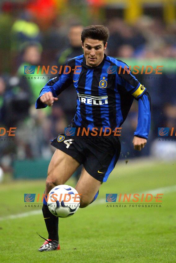 Milano 26/10/2003 <br /> Inter Roma 0-0 <br /> Javier Zanetti (Inter)<br /> Foto Andrea Staccioli / Insidefoto