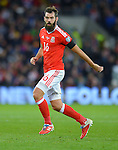 Joe Ledley of Wales during the FIFA World Cup Qualifying match at the Cardiff City Stadium, Cardiff. Picture date: November 12th, 2016. Pic Robin Parker/Sportimage