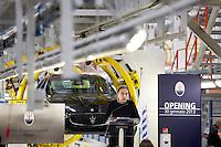 Torino: Sergio Marchionne parla durante l'inaugurazione del nuovo stabilimento Maserati Gianni Agnelli Plant durante l'avvio della produzione della nuova Maserati Quattroporte...Turin:  Sergio Marchionne CEO of FIAT speaks in the new Maserati plant dedicated to Gianni Agnelli. .It will produce the new model of Maserati Quattroporte.