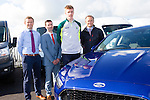 Blue Oval<br /> -------------<br /> Pictured next to a Ford Mondeo, Titanium, last Tuesday evening, at Benners Ford garage,Tralee in an effort to drive the Kerry senior&amp;minor teams on to win the All Ireland again this year are L-R Nicky Benner, Kieran Griffin, Tommy Walsh ( Kerry senior footballer and Ford Brand Ambassador for Kerry Motor Works and Stephan Benner.
