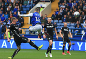 1st October 2017, Hillsborough, Sheffield, England; EFL Championship football, Sheffield Wednesday versus Leeds United; Gary Hooper of Sheffield Wednesday shoots with a flying back kick and it goes just over