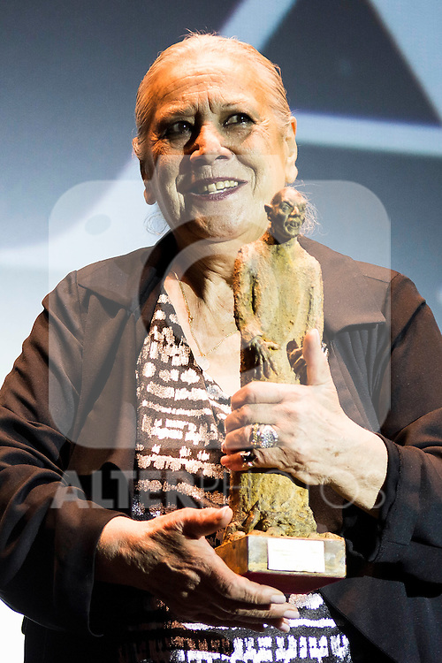 Spanish actress Terele Pavez receive the Nosferatu Award at Festival de Cine Fantastico de Sitges in Barcelona. October 12, Spain. 2016. (ALTERPHOTOS/BorjaB.Hojas)