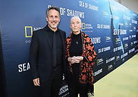 HOLLYWOOD, CALIFORNIA - JULY 10: Director Richard Ladkani (L) and Dr. Jane Goodall attend the National Geographic Documentary Films' premiere of 'Sea Of Shadows' at NeueHouse Los Angeles on July 10, 2019 in Hollywood, California. (Photo by Frank Micelotta/National Geographic/PictureGroup)