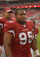 Aug 18, 2007; Glendale, AZ, USA; Arizona Cardinals defensive tackle Jonathan Lewis against the Houston Texans at University of Phoenix Stadium. Mandatory Credit: Mark J. Rebilas-US PRESSWIRE Copyright © 2007 Mark J. Rebilas