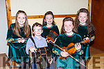 Norin Healy, Sean, Olivia, Colleen, and Grace Angland who played some tunes at the Kilcummin Ranbling House on Saturday evening