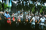 Motorbike traffic in Ho Chi Minh City, Vietnam.