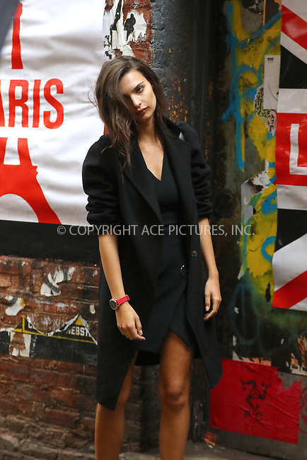 WWW.ACEPIXS.COM<br /> <br /> April 26 2017, New York City<br /> <br /> Model and actress Emily Ratajkowski takes part in a DKNY photo shoot in Soho on April 26 2017 in New York City<br /> <br /> By Line: Zelig Shaul/ACE Pictures<br /> <br /> <br /> ACE Pictures, Inc.<br /> tel: 646 769 0430<br /> Email: info@acepixs.com<br /> www.acepixs.com