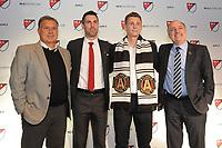 Philadelphia, PA - Thursday January 19, 2018:Carlos Bocanegra, Gordon Wild, Gerardo Martino, Paul McDonough during the 2018 MLS SuperDraft at the Pennsylvania Convention Center.
