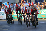 Cofidis in action during Stage 1 of La Vuelta 2019, a team time trial running 13.4km from Salinas de Torrevieja to Torrevieja, Spain. 24th August 2019.<br /> Picture: Eoin Clarke | Cyclefile<br /> <br /> All photos usage must carry mandatory copyright credit (© Cyclefile | Eoin Clarke)