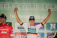 German National Champion Pascal Ackermann (DEU/BORA-hansgrohe) wins the 98th Brussels Cycling Classic 2018, while Jasper Stuyven (BEL/Trek-Segafredo) ends 2nd<br /> <br /> One Day Race:  Brussels &gt; Brussels (201km)
