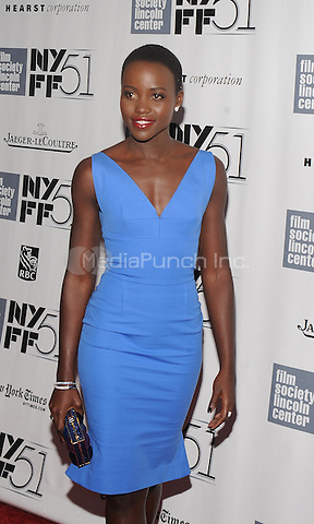 """NEW YORK, NY - OCTOBER 8: Lupita Nyong'o attends the """"12 Years A Slave"""" premiere during the 51st New York Film Festival at Alice Tully Hall at Lincoln Center in New York City  on Oct 8,2013.Credit: John Palmer/MediaPunch"""