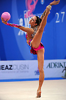 Neta Rivkin of Israel performs with ball at 2010 Pesaro World Cup on August 27, 2010 at Pesaro, Italy.  Photo by Tom Theobald.