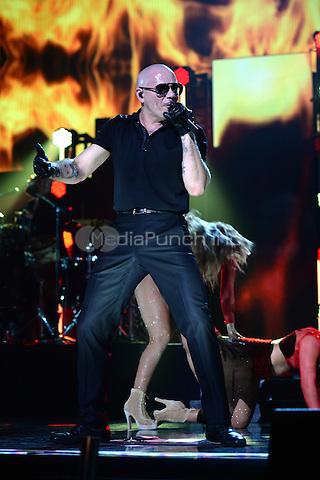 MIAMI, FL - NOVEMBER 5: Pitbull at iHeartRadio Fiesta Latina 2016 at The American Airlines Arena on November 5, 2016. Credit: mpi04/MediaPunch