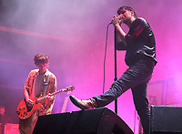The Strokes performing live on stage, headlining Day Two of the All Points East Festival at Victoria Park  in London. May 25th 2019<br />