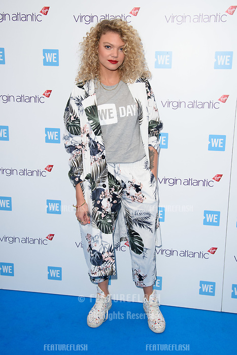 Becca Dudley arriving for WE Day 2018 at Wembley Arena, London, UK. <br /> 07 March  2018<br /> Picture: Steve Vas/Featureflash/SilverHub 0208 004 5359 sales@silverhubmedia.com