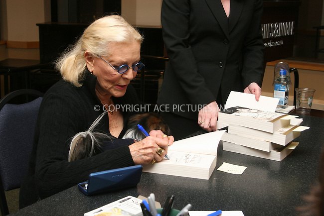 "06 December 2006 - New York, NY - Lauren Bacall  signs copies of her new book"" By Myself and then some"" at Barnes and Noble."