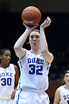 19 December 2014: Duke's Erin Mathias. The Duke University Blue Devils hosted the University of Massachusetts Lowell River Hawks at Cameron Indoor Stadium in Durham, North Carolina in a 2014-15 NCAA Division I Women's Basketball game. Duke won the game 95-48.
