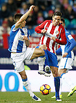 Atletico de Madrid's Fernando Torres (r) and CD Leganes' Unai Bustinza during La Liga match. February 4,2016. (ALTERPHOTOS/Acero)