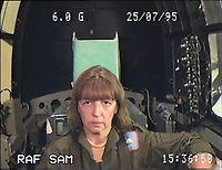 BNPS.co.uk (01202 558833)<br /> Pic: SueAdcock/FAST/BNPS<br /> <br /> At 6G the face begins to sag - FAST guide Sue Adcock on one of over 600 spins she undertook in the centrifuge - this one going from 1G to 8G.<br /> <br /> Sci-fi 'Centrifuge' to open its doors to the public after 64 years...<br /> <br /> A remarkable Cold War relic which has put thousands of pilots through their G-force paces has made its final spin after six decades. <br /> <br /> The Top Secret building at the former RAE Farnborough test site is now open to the public for guided tours led by the scientists from FAST who used to work there.<br /> <br /> The Farnborough Centrifuge was used to simulate huge 9G forces - nine times more than a human body is designed to absorb - they would encounter while flying fast jets during combat operations.<br /> <br /> The pilot would sit in a small compartment replicating a cockpit at the end of the 60ft rotating arm and be propelled at over 60mph, spinning 30 times a minute.<br /> <br /> A staggering 122,133 tests were performed on it before it was decommissioned in March this year, with a new centrifuge installed at RAF Cranwell.<br /> <br /> It featured on an episode of Top Gear in 2000 when Jeremy Clarkson had a go on it at 3G, leaving him in obvious discomfort. He described the force exerted on him as like 'having an elephant sat on my chest'.<br /> <br /> The centrifuge, which is being displayed for the public for the first time, also appeared in the 1985 comedy film Spies Like Us starring Chevy Chase and Dan Ackroyd.
