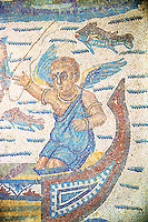 Fishermen - Ancient Roman mosaics at the Villa Romana del Casale, Sicily, Italy Pictures, Photos, Images & fotos