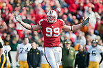 October 17, 2009: Wisconsin Badgers defensive lineman J.J. Watt (99) during an NCAA football game at Camp Randall Stadium on October 17, 2009 in Madison, Wisconsin. The Hawkeyes won 20-10. (Photo by David Stluka)
