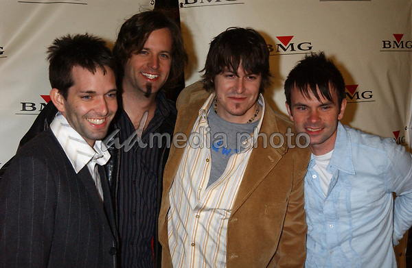 Feb. 8, 2004; Hollywood, CA, USA; Singers from JARS OF CLAY during the BMG 46th Annual Grammy Awards Post-Grammy Gala Celebration held at The Avalon. Mandatory Credit: Photo by Laura Farr/AdMedia (©) Copyright 2003 by Laura Farr